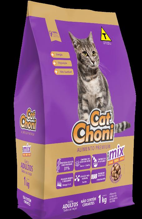 Catchoni Para Gatos Adultos Sabor Mix Sem corantes