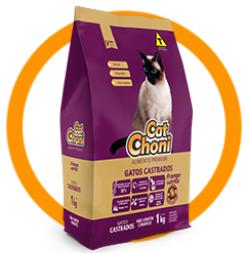 CatChoni Premium Para Gatos Castrados Sabor Frango e Arroz